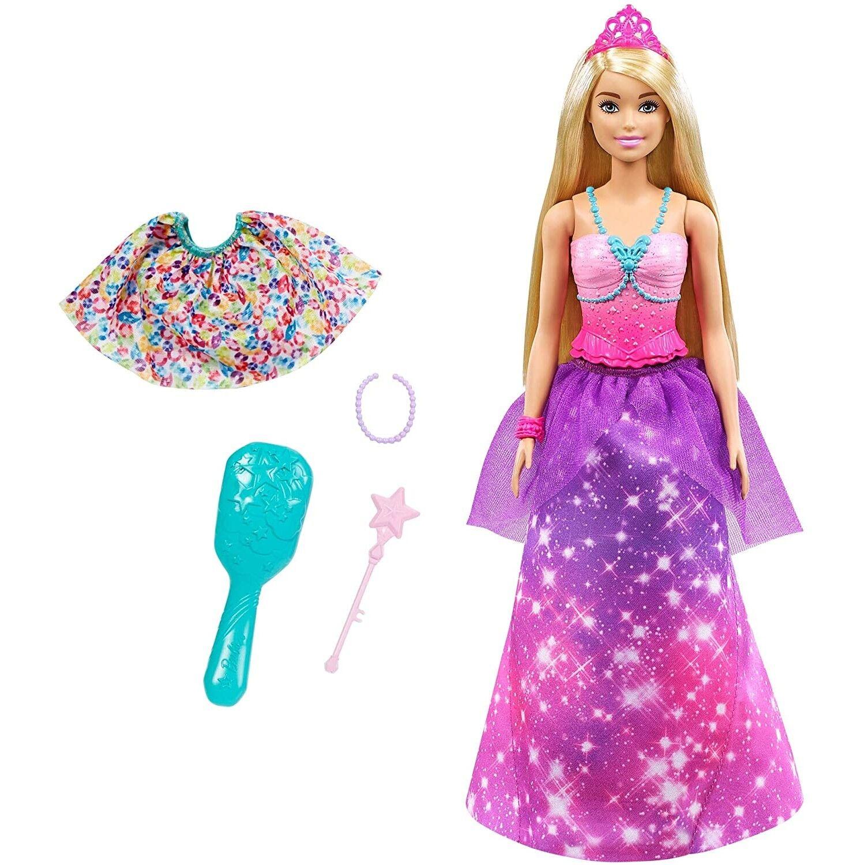 Barbie Poupée Barbie Dreamtopia 2 en 1 de princesse à sirène