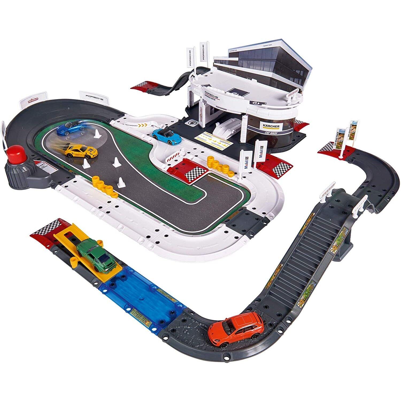 Simba Circuit Majorette par Simba Mega Set Porsche avec 5 véhicules