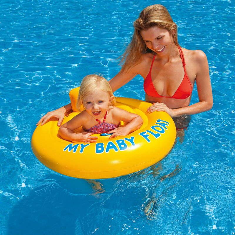 INTEX Bouée bébé culotte Intex My baby float Jaune