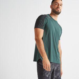 Domyos Tee shirt cardio fitness training homme FTS 500 khaki vert - Domyos