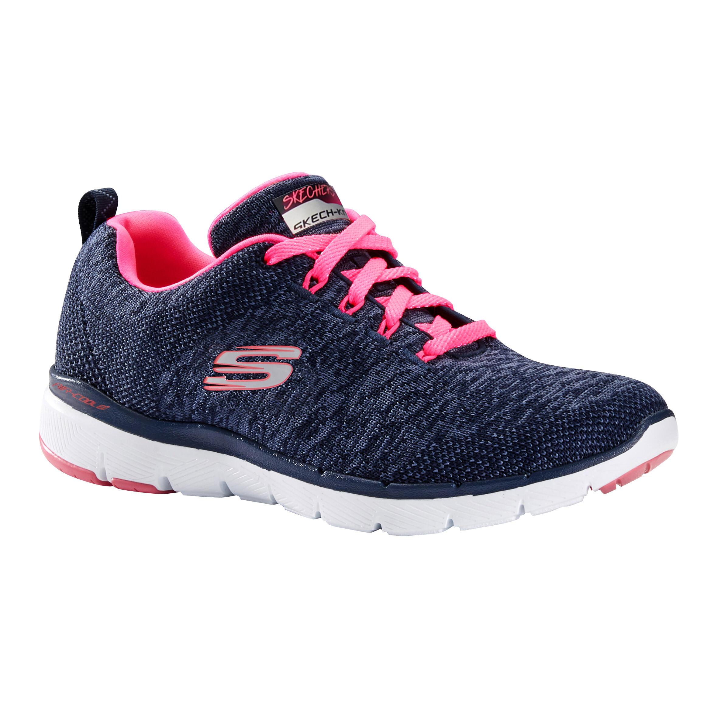 SKECHERS Chaussures marche sportive femme Flex Appeal bleu / rose - SKECHERS - 36