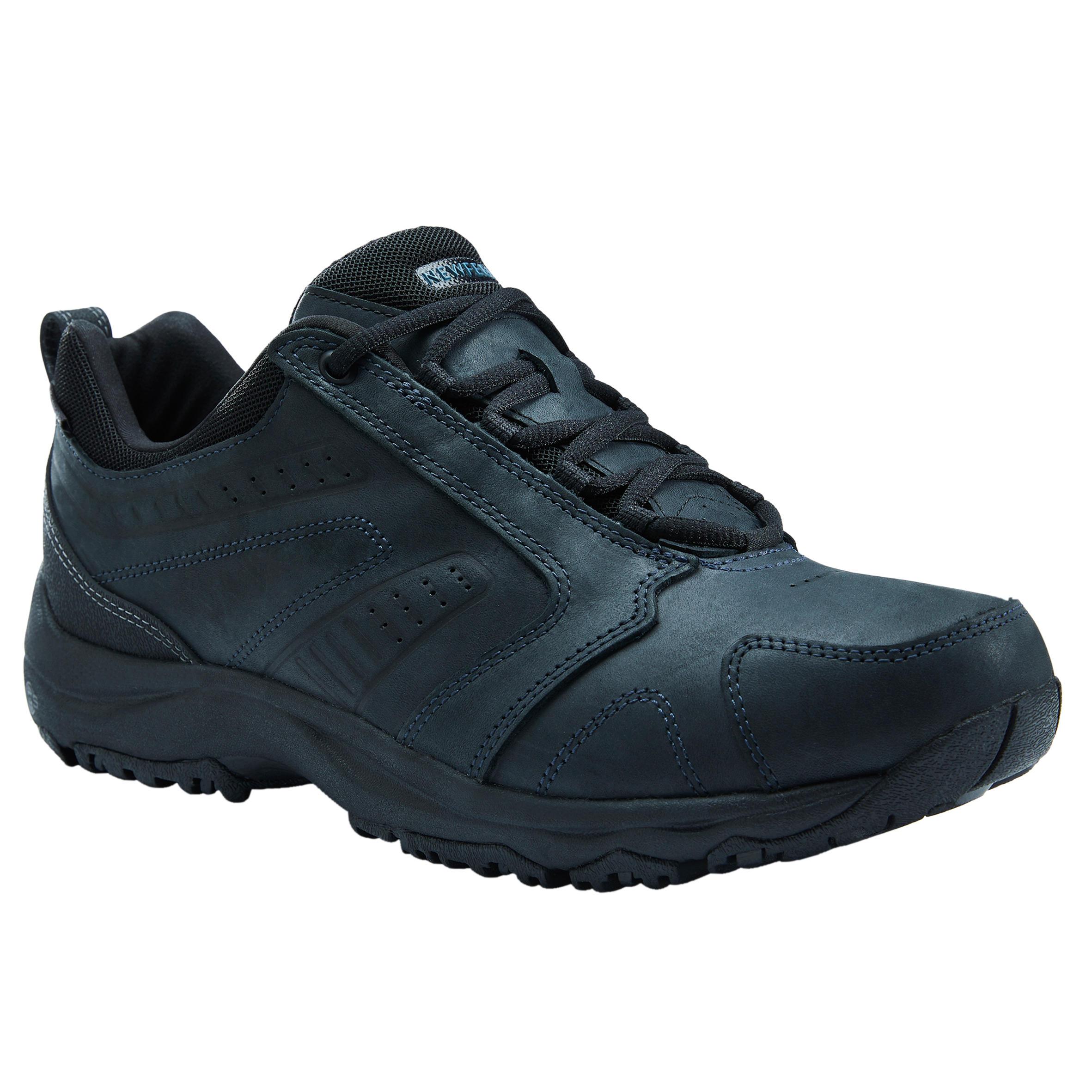 NEWFEEL Chaussures marche sportive homme Nakuru Waterproof imperméable cuir noir - NEWFEEL - 46