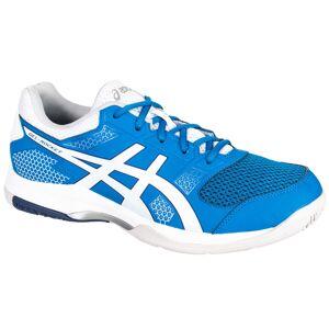 Asics Chaussures de Badminton Squash Sports Indoor Homme Gel Rocket 8 Bleu / Blanc - Asics