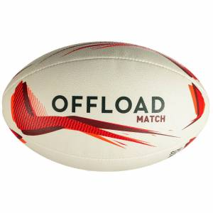 Offload Ballon de rugby R500 taille 5 rouge - Offload