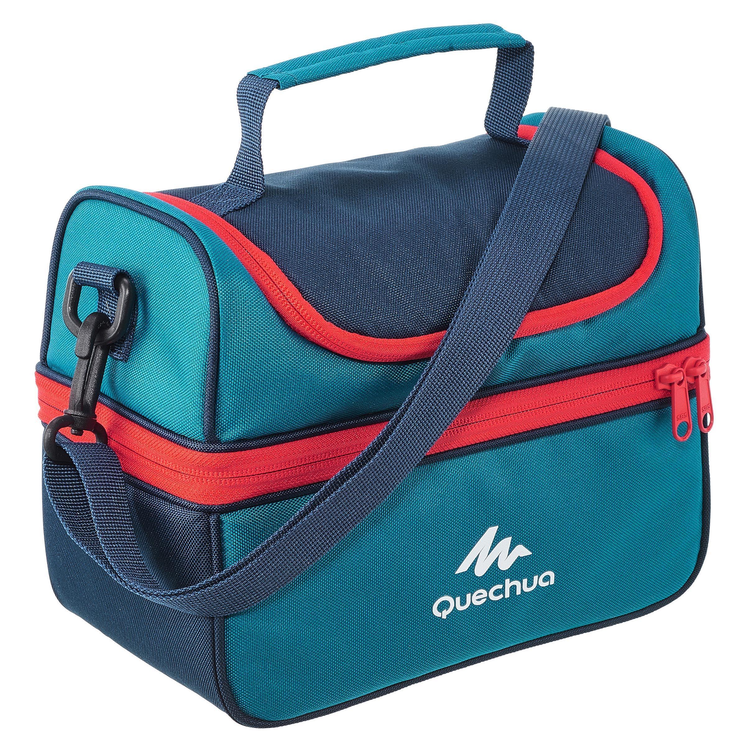 Quechua Glacière Lunch box MH500 randonnée (avec 2 boîtes alimentaires) 4,4 litres bleu - Quechua