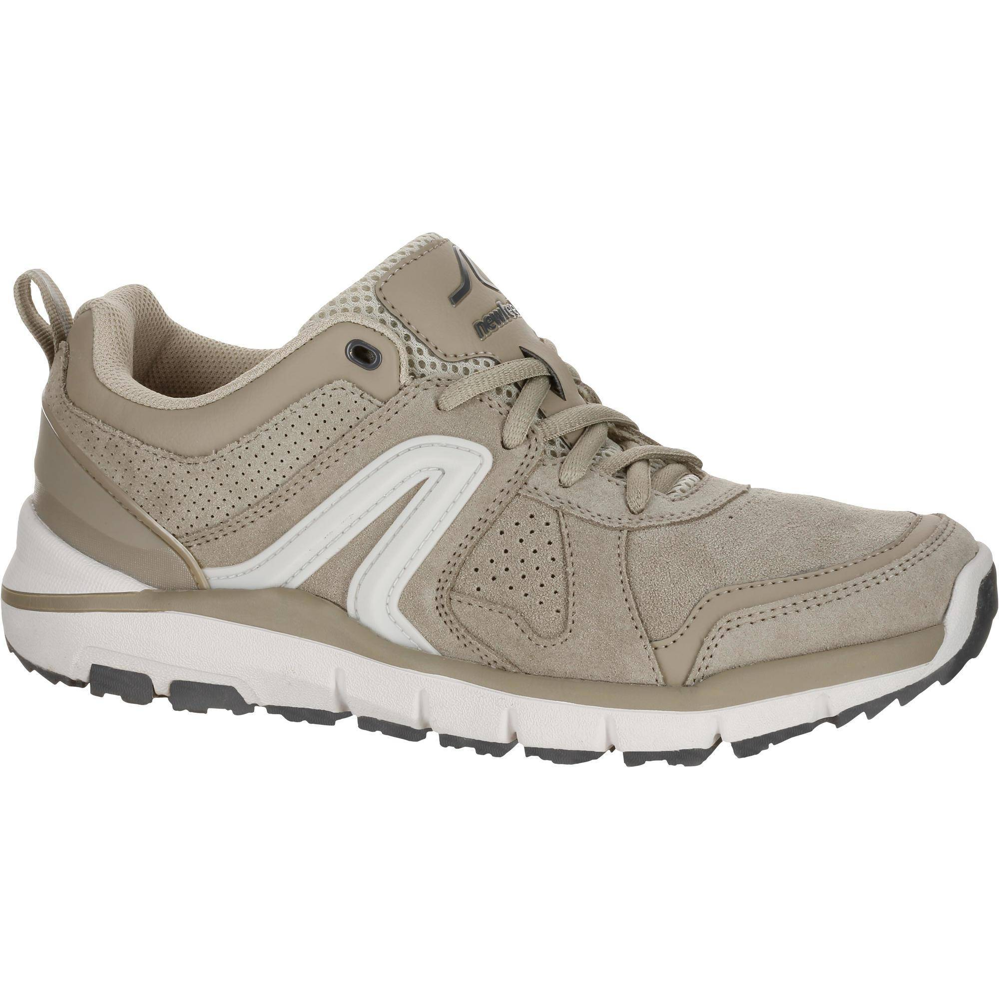 Newfeel Chaussures marche sportive femme HW 540 cuir beige - Newfeel