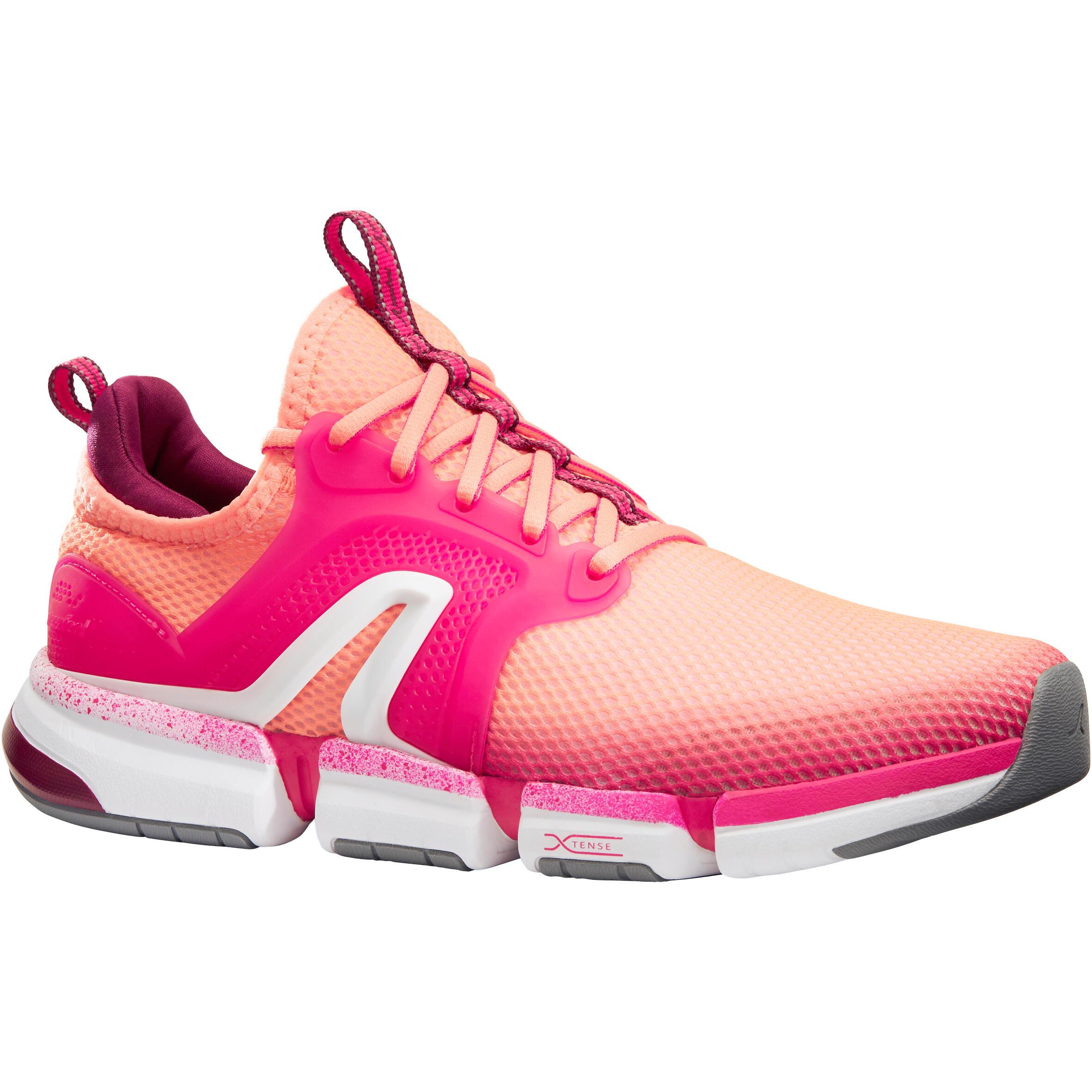 Newfeel Chaussures marche sportive femme PW 590 Xtense corail / rose - Newfeel