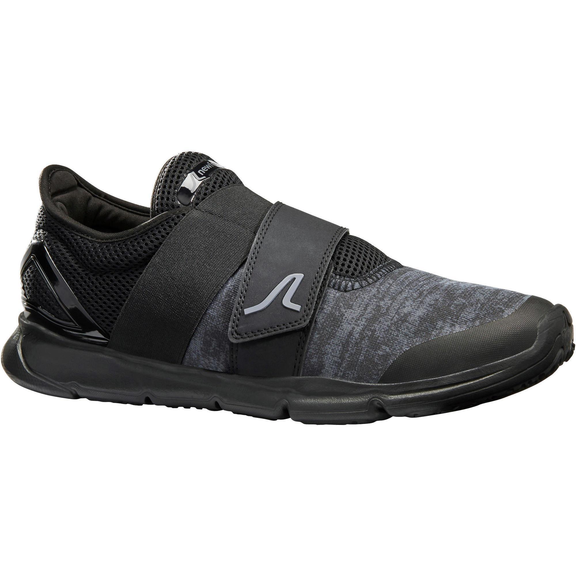 Newfeel Chaussures marche sportive homme Soft 180 Strap noir - Newfeel
