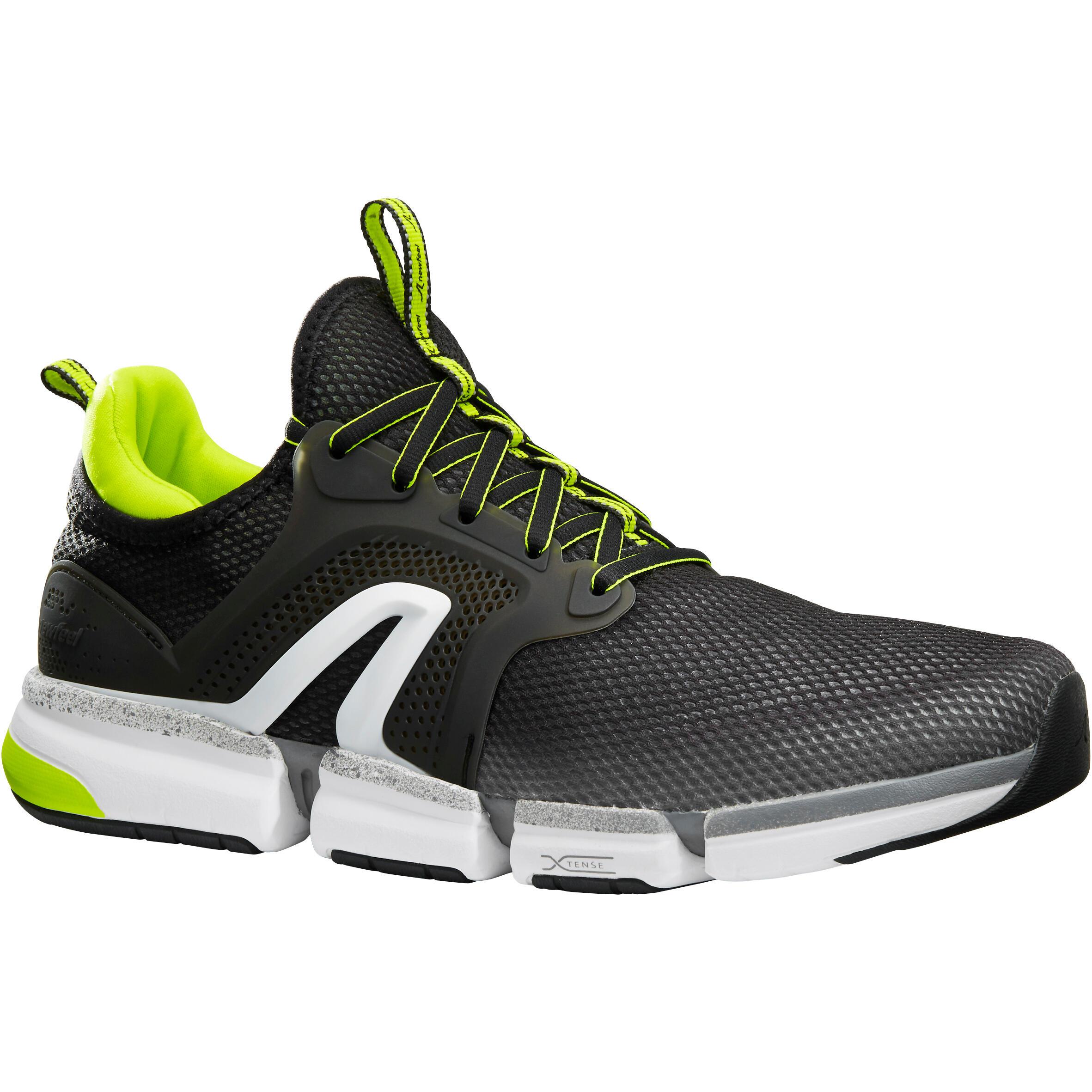 Newfeel Chaussures marche sportive homme PW 590 Xtense gris / jaune - Newfeel