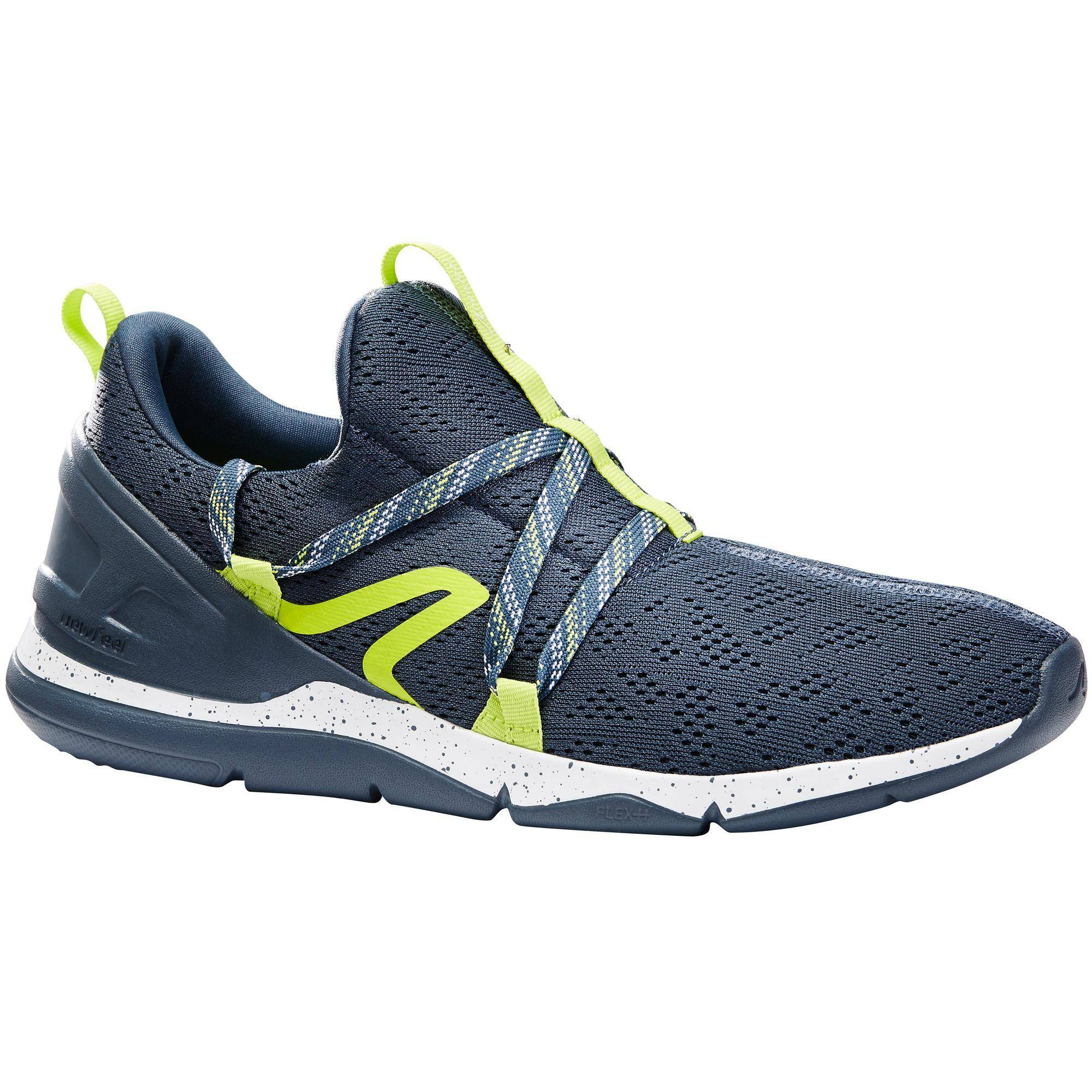 Newfeel Chaussures marche sportive homme PW 140 gris / jaune - Newfeel