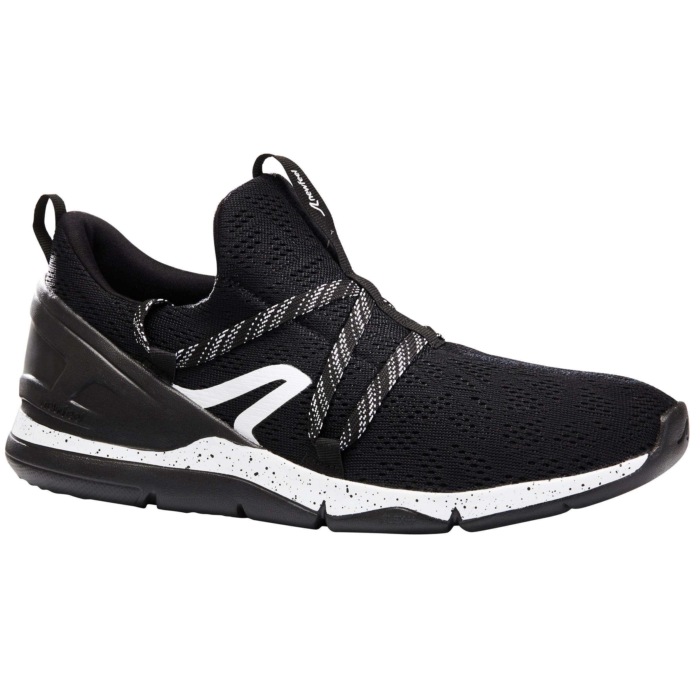 Newfeel Chaussures marche sportive homme PW 140 noir / blanc - Newfeel