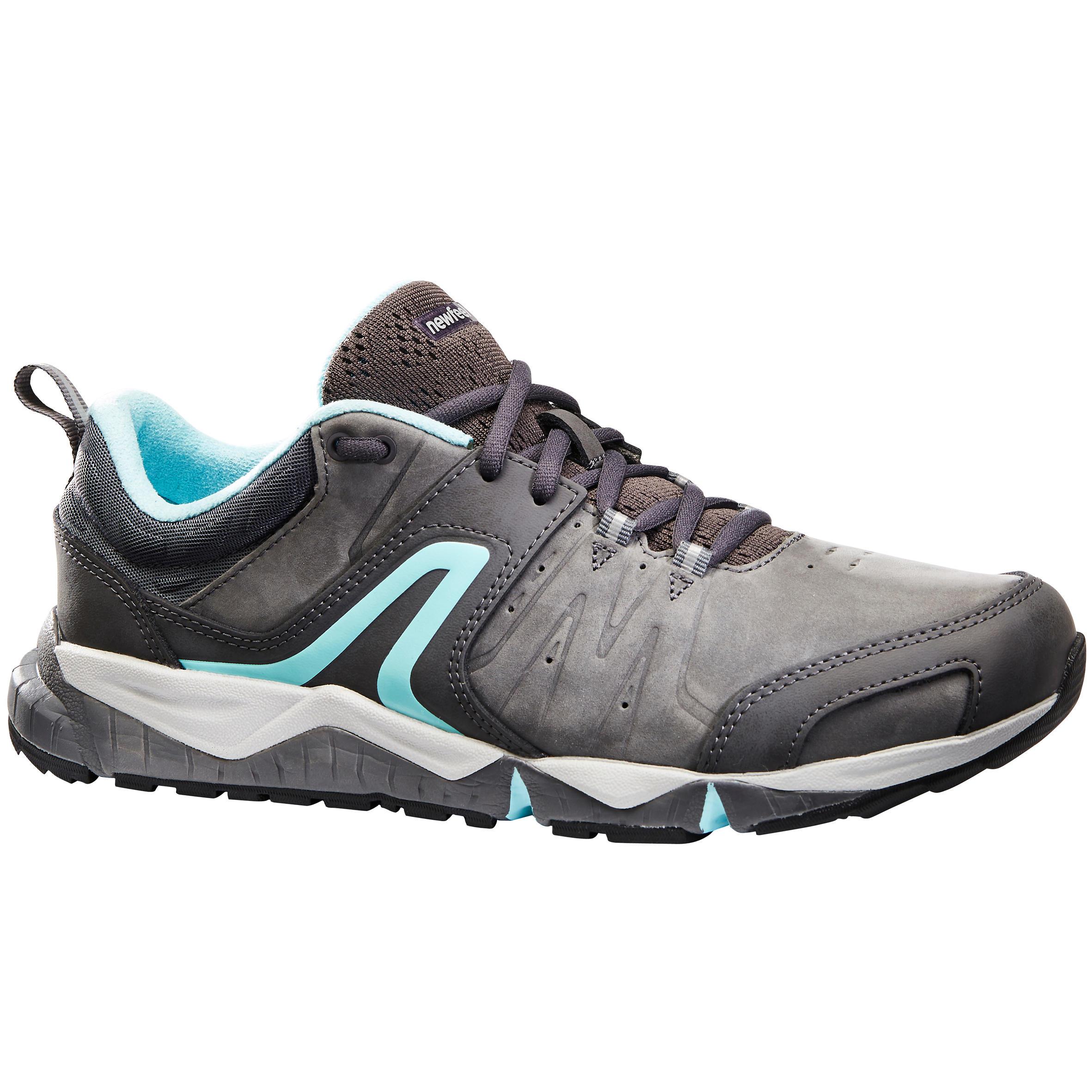 Newfeel Chaussures marche sportive femme PW 940 Propulse Motion cuir gris / bleu - Newfeel