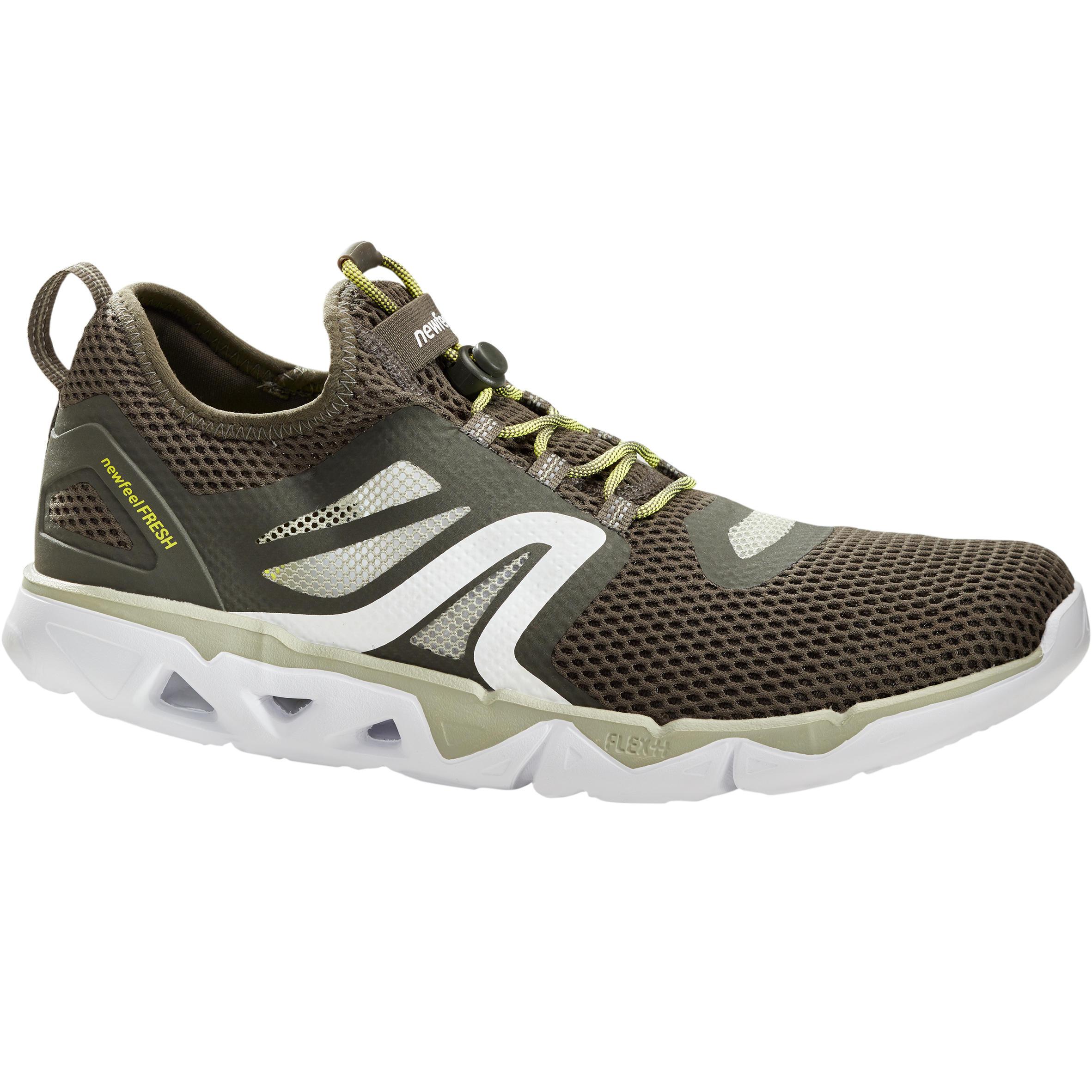 Newfeel Chaussures marche sportive homme PW 500 Fresh vert kaki - Newfeel