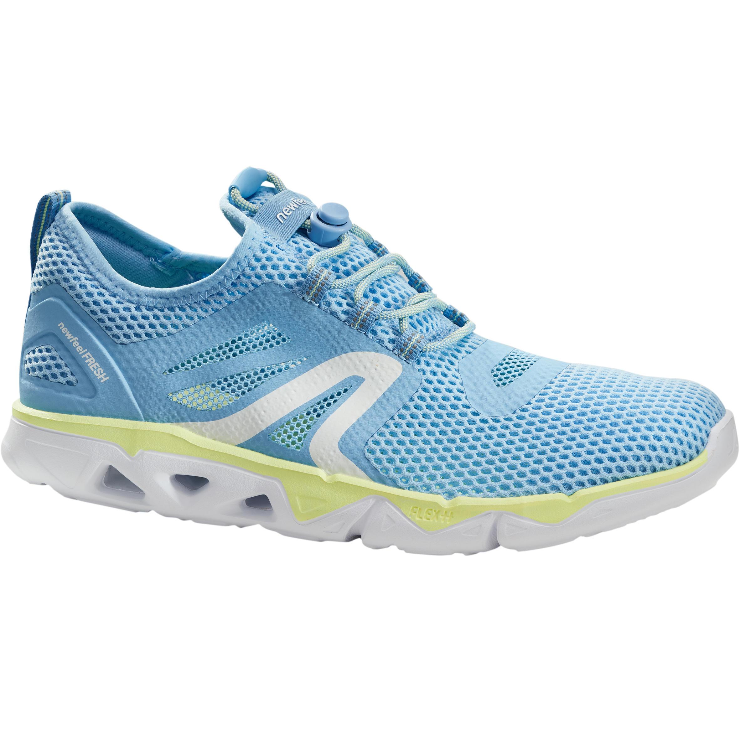 Newfeel Chaussures marche sportive femme PW 500 Fresh bleu / jaune - Newfeel