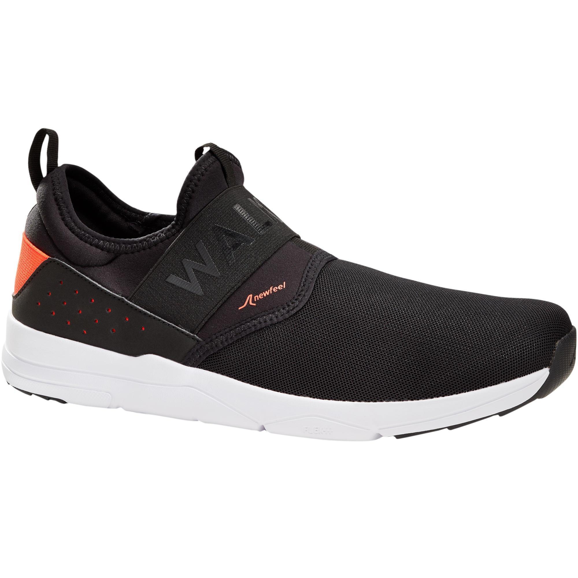 Newfeel Chaussures marche sportive homme PW 160 Slip-On noir / orange - Newfeel
