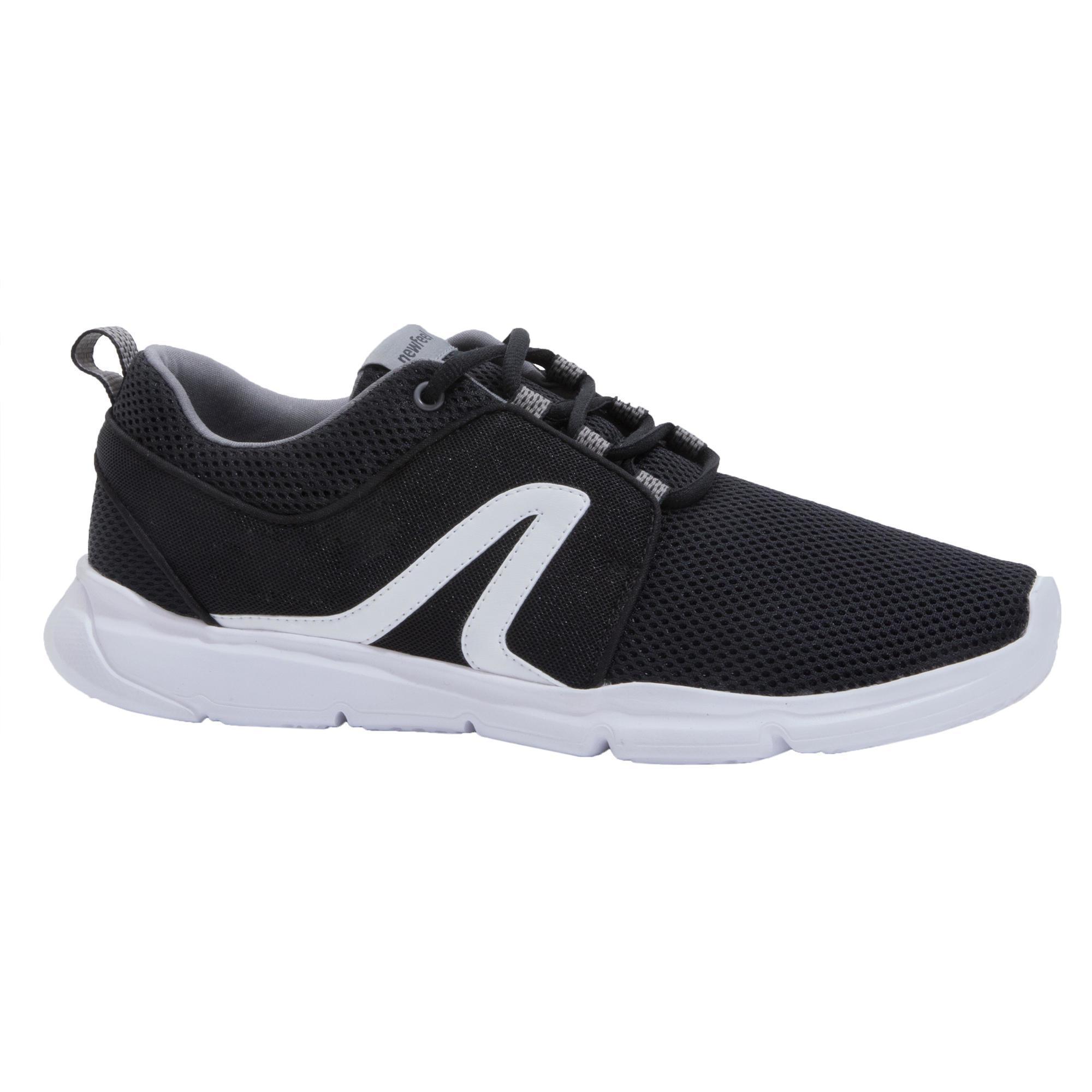 Newfeel Chaussures marche sportive femme PW 120 noir / blanc - Newfeel