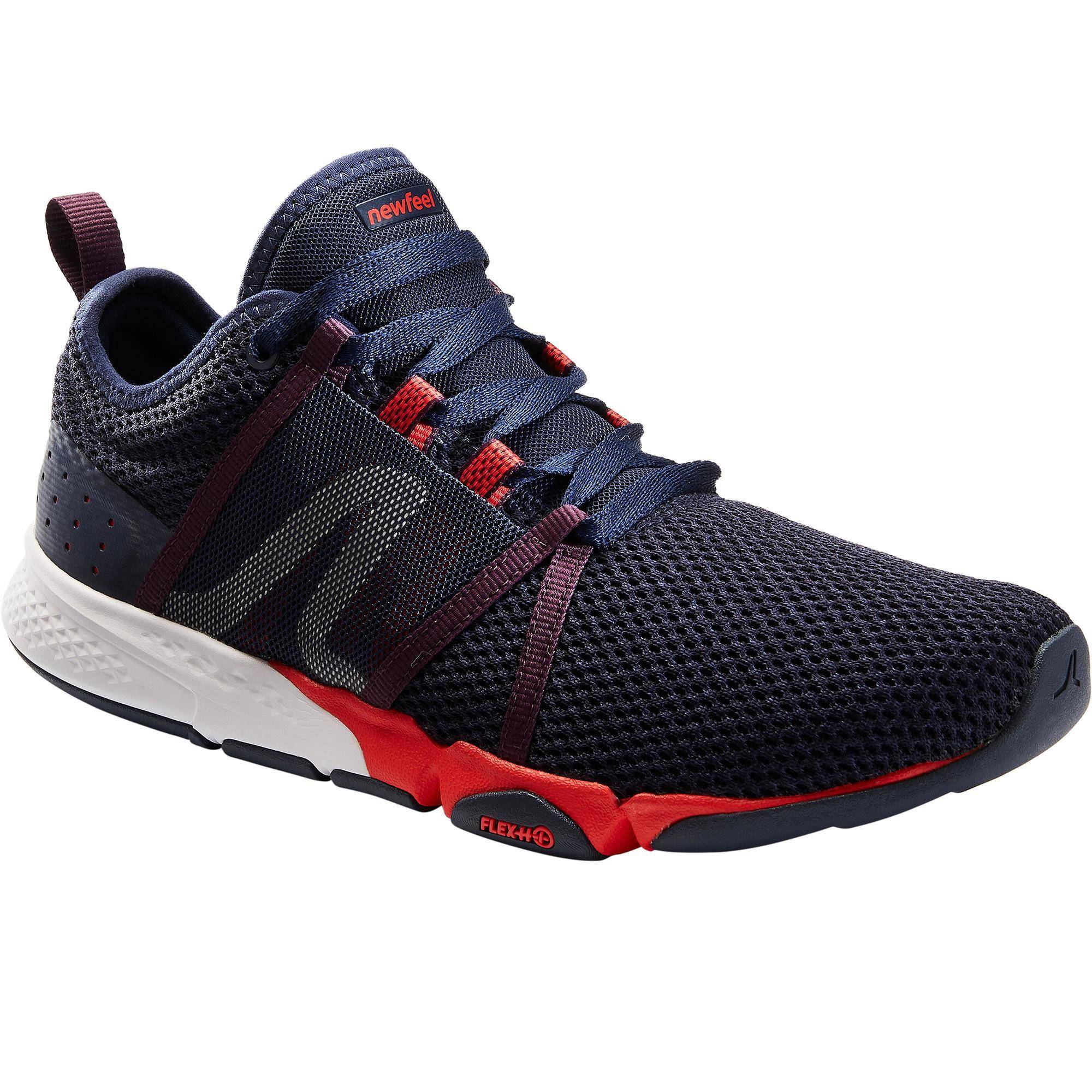 Newfeel Chaussures marche sportive homme PW 540 Flex-H+ bleu / rouge - Newfeel