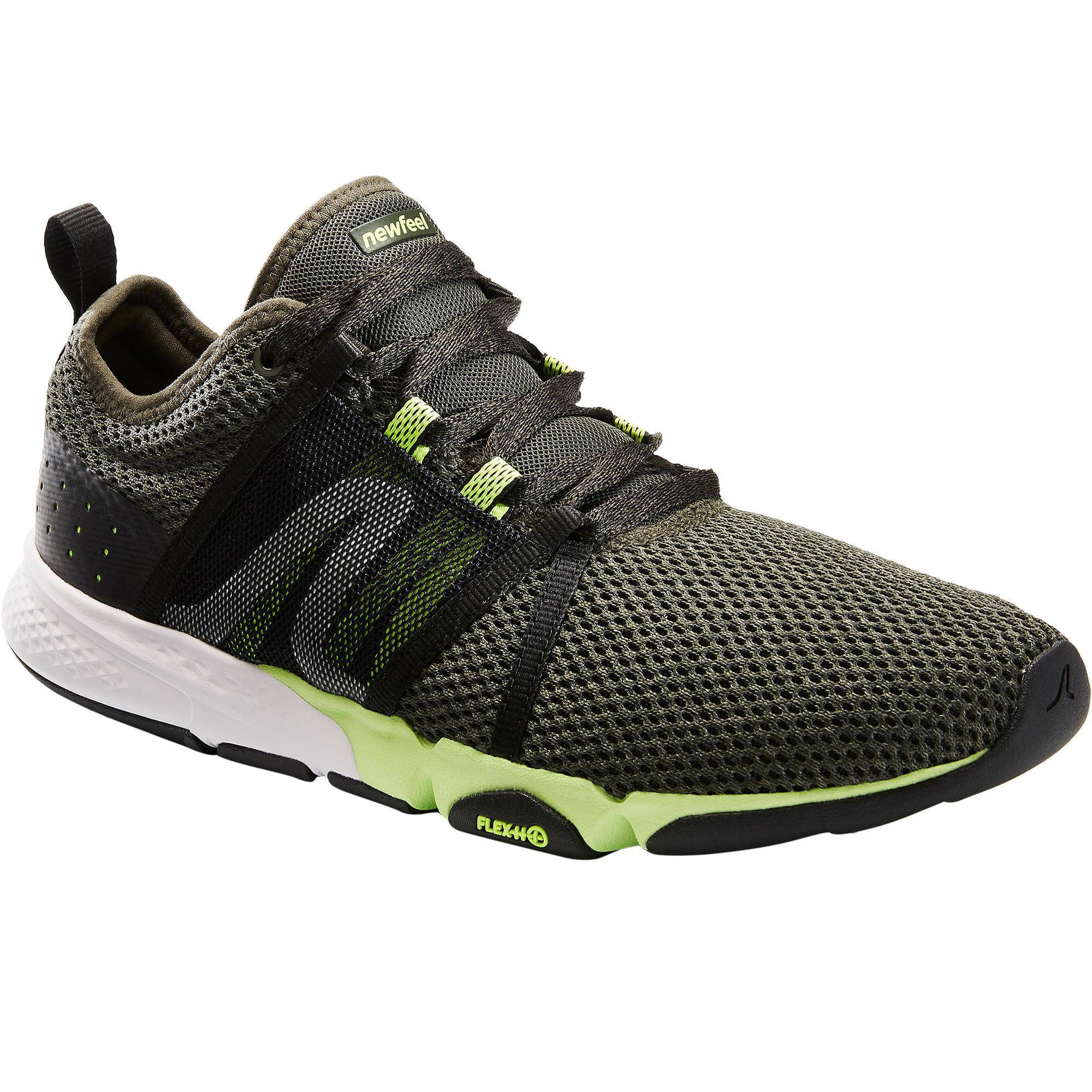 Newfeel Chaussures marche sportive homme PW 540 Flex-H+ kaki / vert - Newfeel