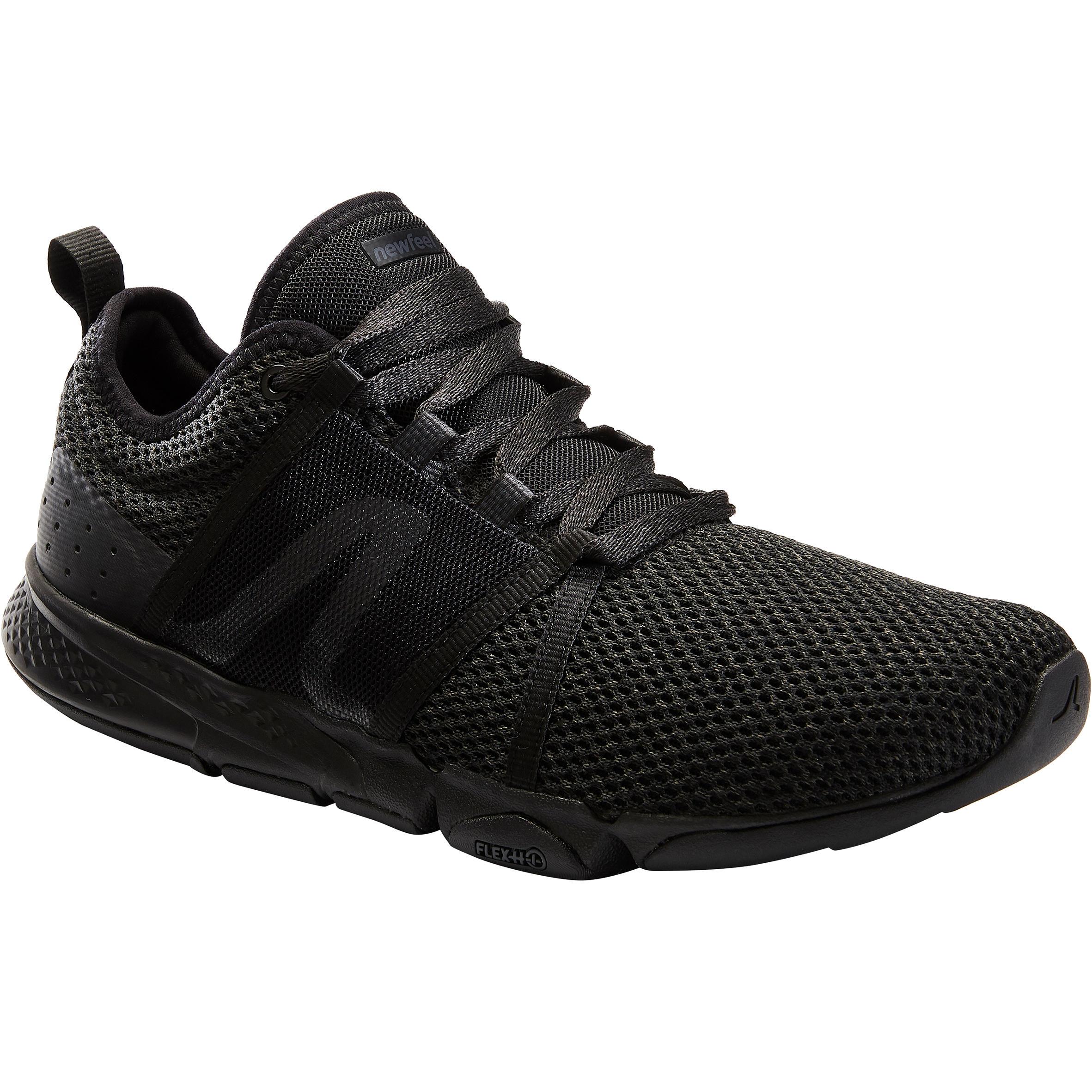 Newfeel Chaussures marche sportive homme PW 540 Flex-H+ full noir - Newfeel