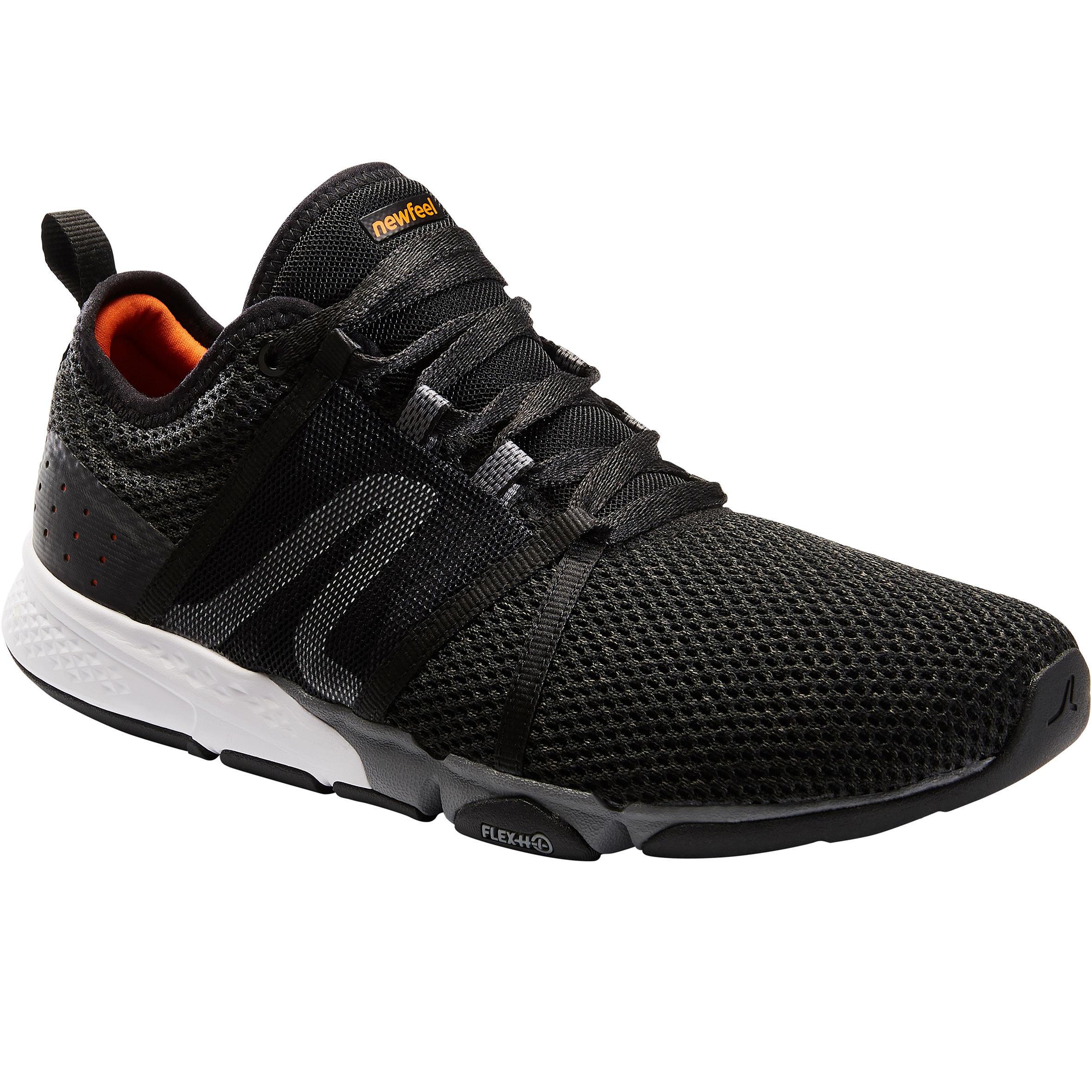 Newfeel Chaussures marche sportive homme PW 540 Flex-H+ noir / orange - Newfeel