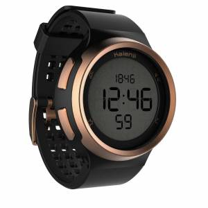 Kiprun Montre chronomètre de course à pied homme W900 noire et cuivre - Kiprun