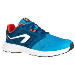 Kalenji chaussures enfant d'athlétisme Run Support lacet turquoises et rouges fluo - Kalenji