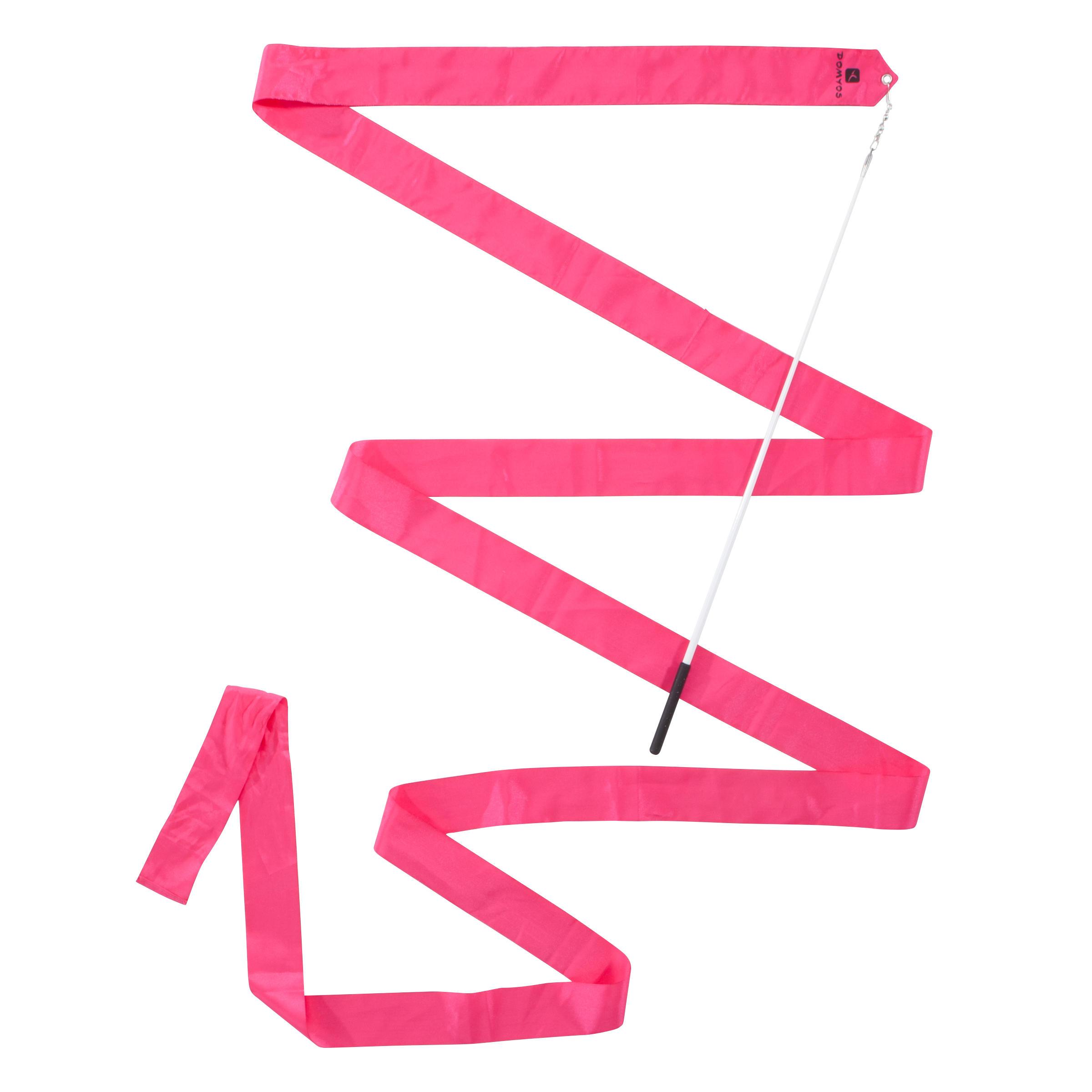 Domyos Ruban de Gymnastique Rythmique (GR) de 4 mètres Rose - Domyos