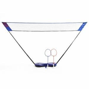 Perfly Filet de Badminton Easy Set 3 m - Bleu - Perfly