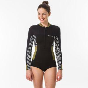 Olaian Shorty de surf femme manches longues et zip frontal - Olaian