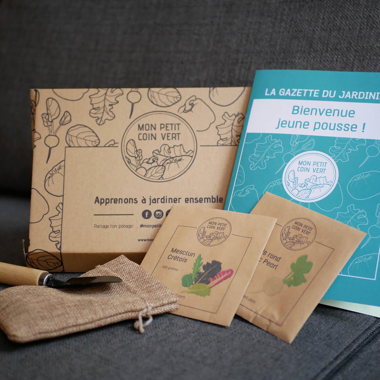 Smartbox 2 variétés de graines bio, une gazette de jardinage, des pastilles de coco et une surprise horticole Coffret cadeau Smartbox