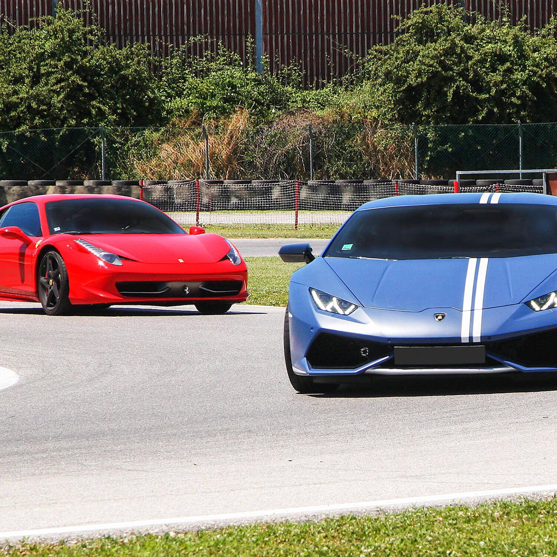 Smartbox Session de pilotage de 2 voitures luxueuses lors de 3 tours sur circuit Coffret cadeau Smartbox