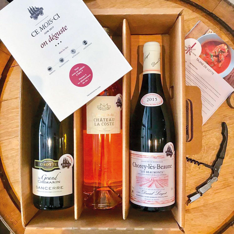Smartbox Abonnement de 6 mois avec 1 coffret de 3 bouteilles de grands vins à recevoir mensuellement Coffret cadeau Smartbox