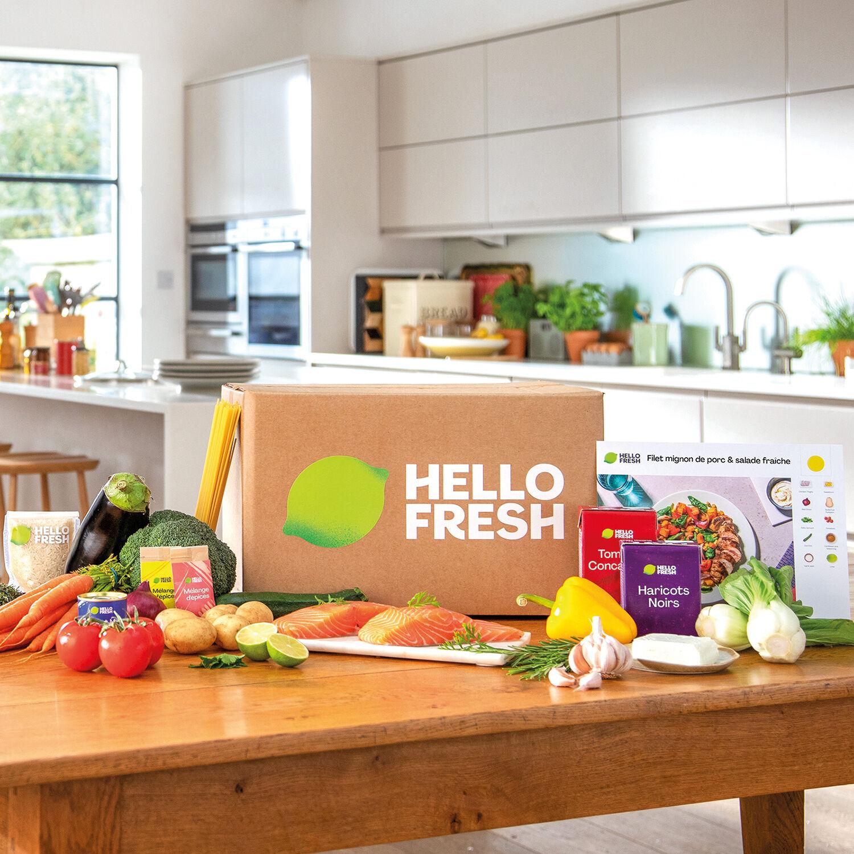 Smartbox Menu 3 repas HelloFresh livré à domicile à choisir parmi une sélection de recettes saines et originales Coffret cadeau Smartbox