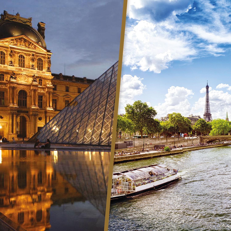 Smartbox Découverte de Paris : 1h de croisière sur la Seine et visite guidée du Louvre pour 2 Coffret cadeau Smartbox