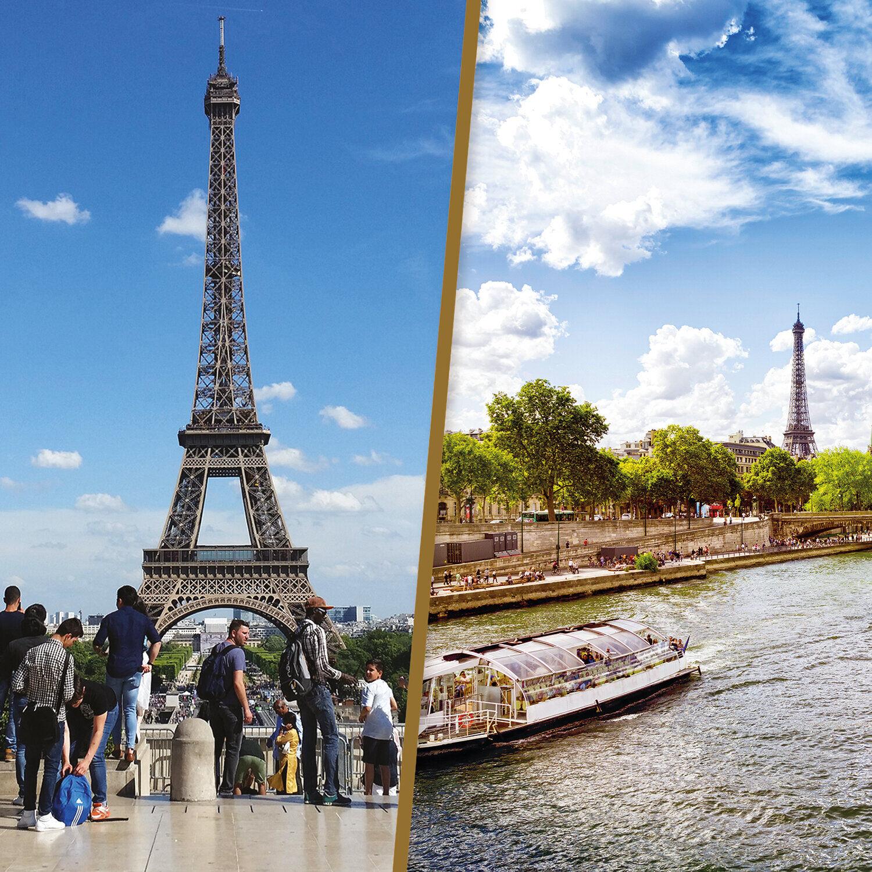 Smartbox Croisière d'1h sur la Seine et visite guidée de la tour Eiffel d'1h30 à Paris en duo Coffret cadeau Smartbox