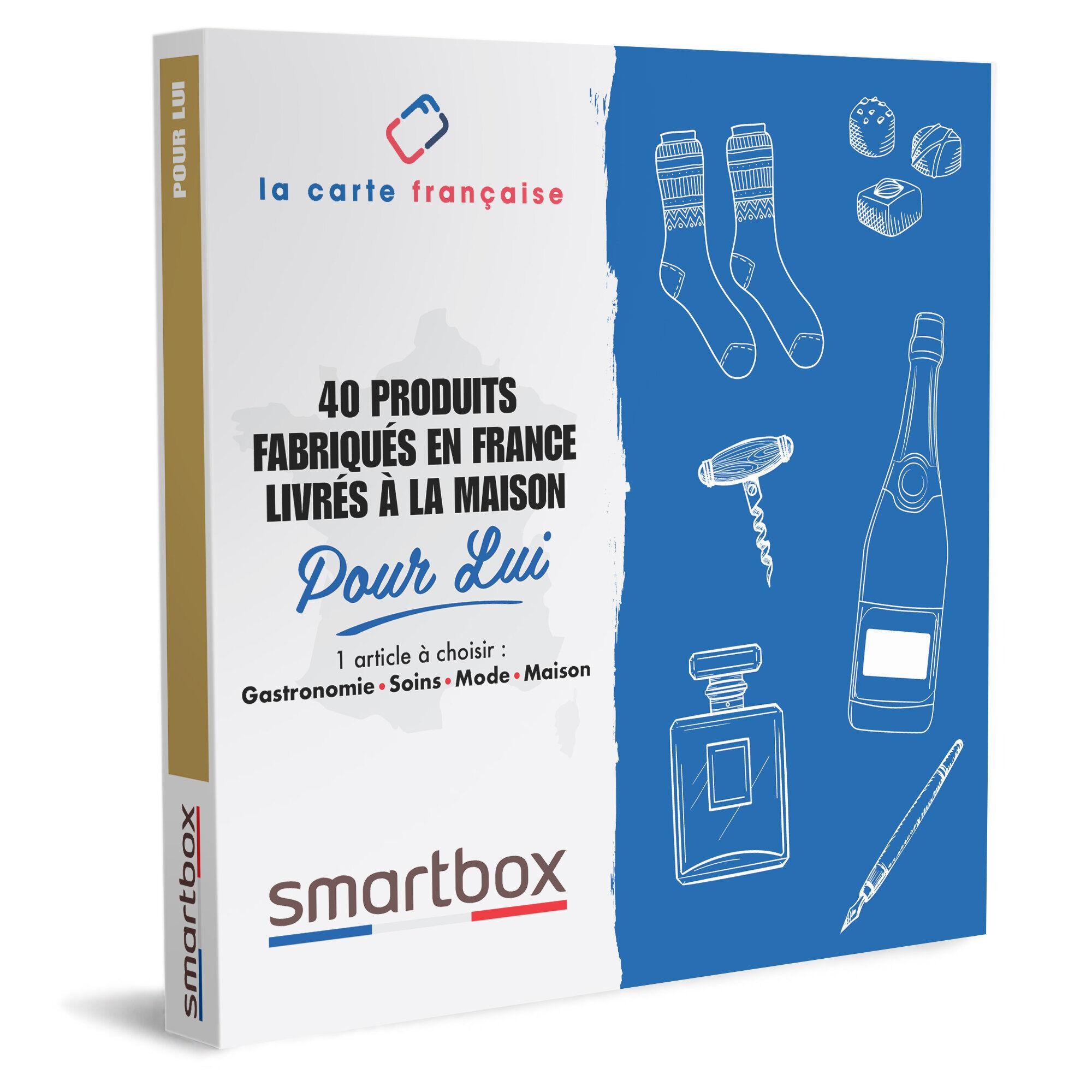 Smartbox 40 produits fabriqués en France Pour Lui Coffret cadeau Smartbox