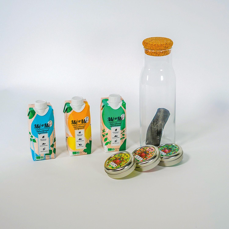 Smartbox Coffret de boissons et bonbons naturels fabriqués en France avec charbon de bois Coffret cadeau Smartbox