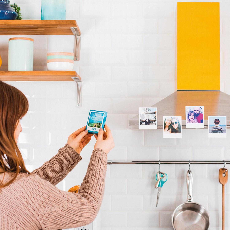Smartbox 12 magnets photo personnalisés au format rétro avec pochette cadeau Coffret cadeau Smartbox