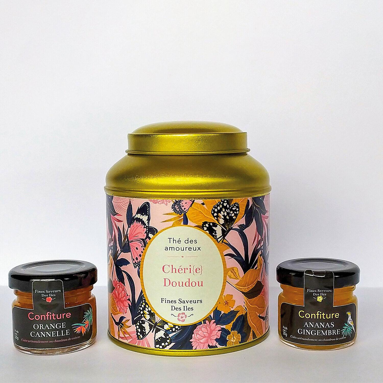 Smartbox Coffret des amoureux composé de thé parfumé et de confitures artisanales Coffret cadeau Smartbox