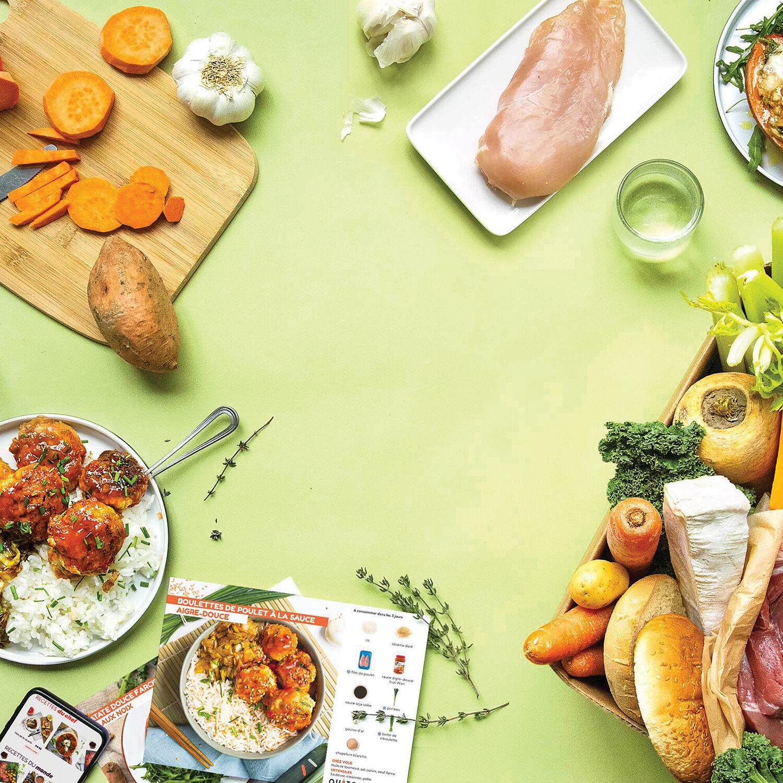 Smartbox Panier de produits frais pour cuisiner 3 repas pour 2 Coffret cadeau Smartbox