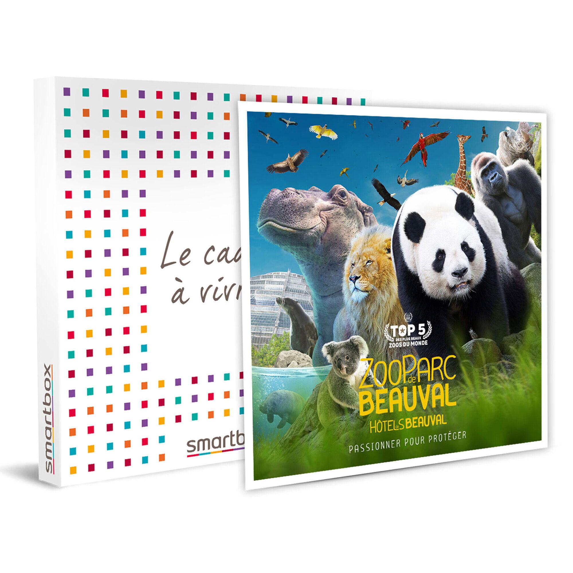 Smartbox Entrées pour 2 adultes au ZooParc de Beauval Coffret cadeau Smartbox