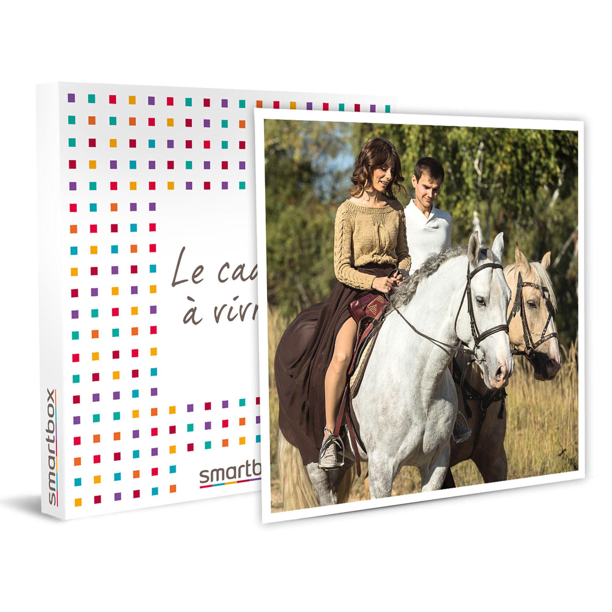 Smartbox Séjour de 1 nuit avec petit-déjeuner et 1 balade à cheval en France en duo Coffret cadeau Smartbox