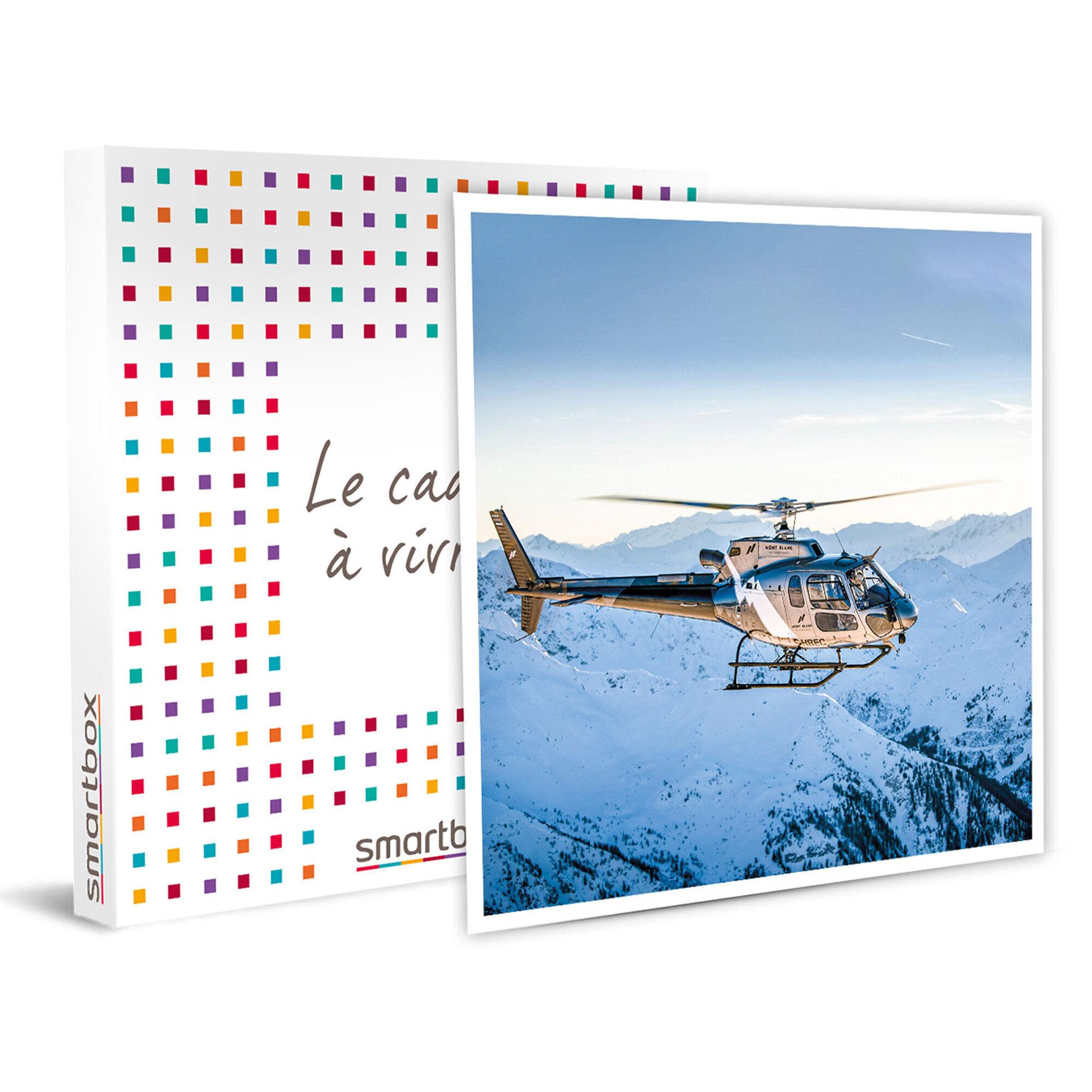 Smartbox 30 minutes de survol du mont Blanc en hélicoptère pour 2 Coffret cadeau Smartbox