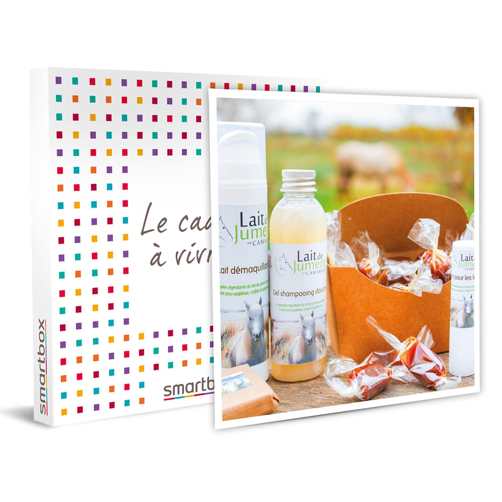 Smartbox 5 produits bio et naturels à base de lait de jument de Camargue Coffret cadeau Smartbox