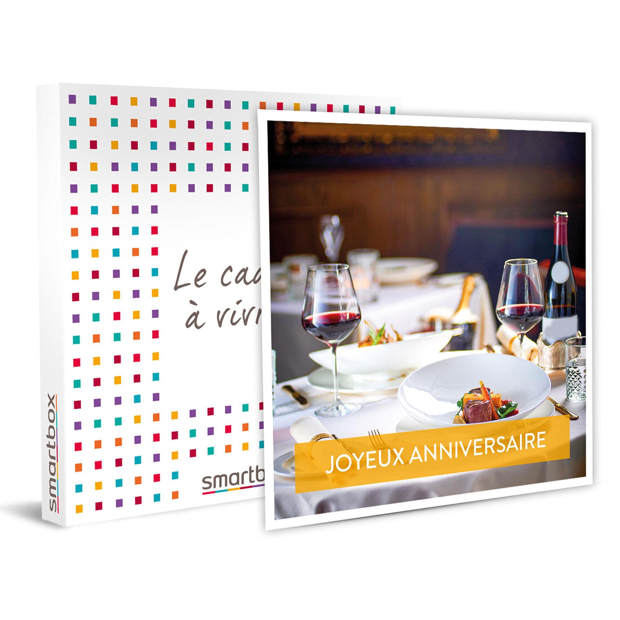 Smartbox Dîner d'anniversaire gastronomique en France avec vin compris Coffret cadeau Smartbox