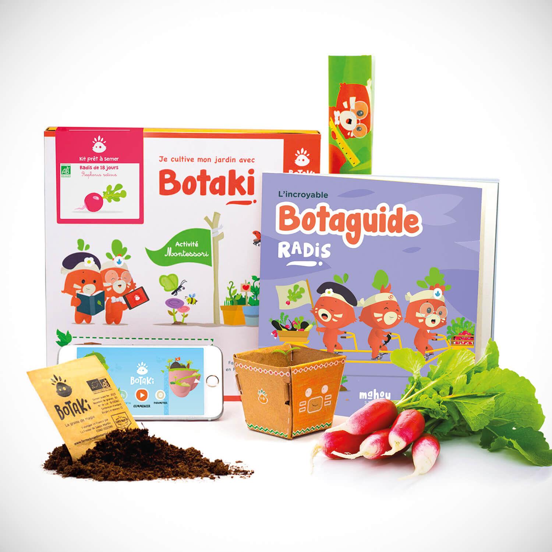 Kit de graines prêtes à semer : tomate, carotte ou radis pour enfant entre 4 et 10 ans Coffret cadeau Smartbox