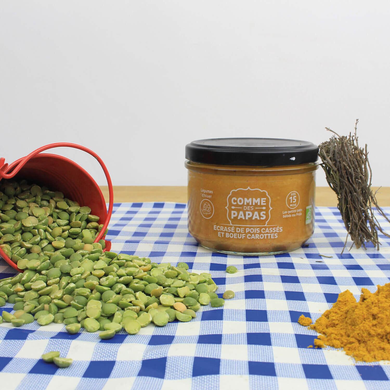 Sélection de pots gourmets pour bébé avec glacière et tétine moustache Coffret cadeau Smartbox