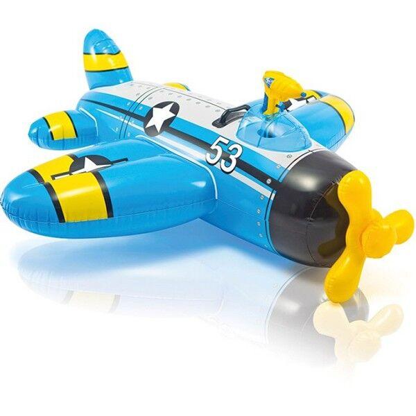 Intex Jeux piscine Avion gonflable + pistolet à eau - Intex