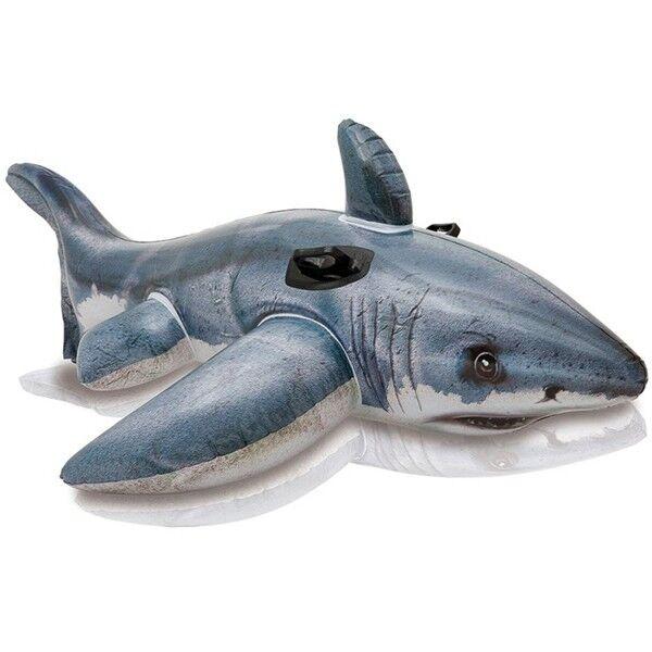 Intex Jeux piscine Requin blanc gonflable à chevaucher - Intex