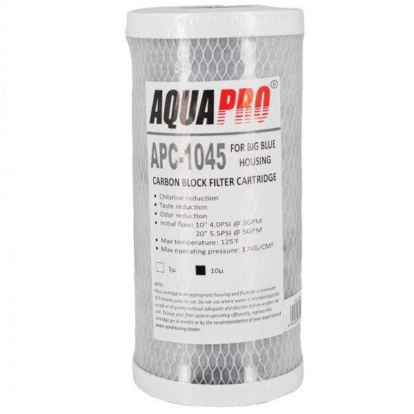 """Aqua Pro Cartouche charbon actif 10"""" pour UV Big Blue - Aqua Pro - Cartouches filtrantes"""